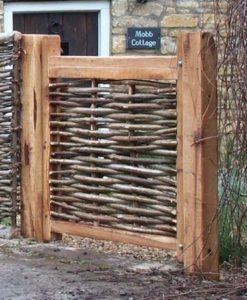 3ft Oak Framed Hazel Gate