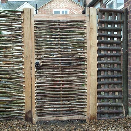 6ft Oak Framed Hazel Gate