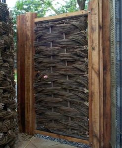 6ft Oak Framed Willow Gate