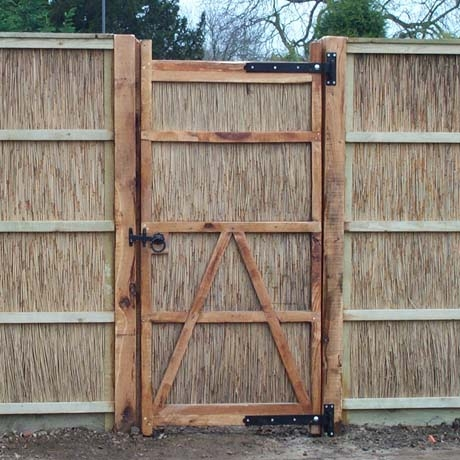 6ft Oak Framed Norfolk Reed Gate