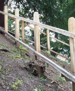 Oak Post & Rail