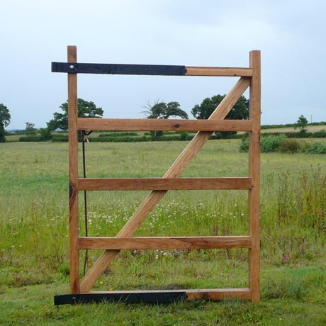 5 Bar Oak Gate