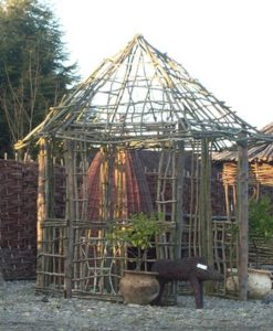 Six-sided Ash & Chestnut Gazebo