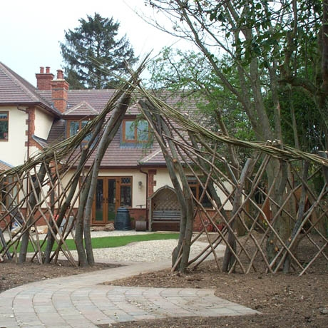 Bespoke Trellis with Arch