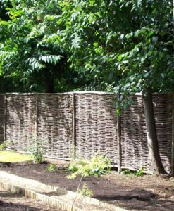 Hazel Hurdles with Chestnut Capping