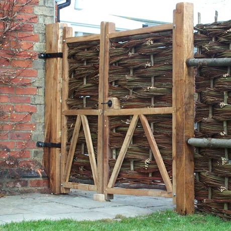 Bespoke Oak Framed Willow Gate
